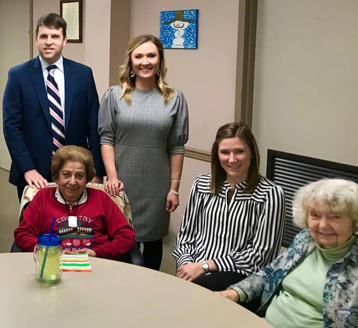 attorneys from FRP with South Highland Adult Day care seniors